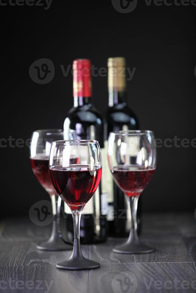Red wine display photo
