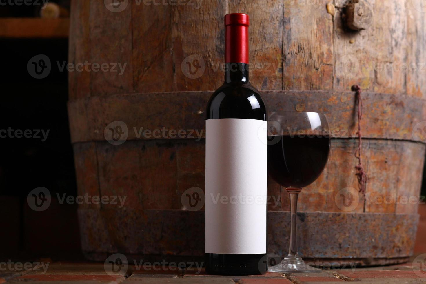 Red wine in cellar photo