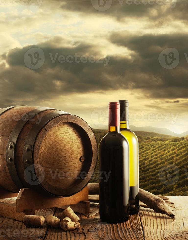 Wine and vineyard photo