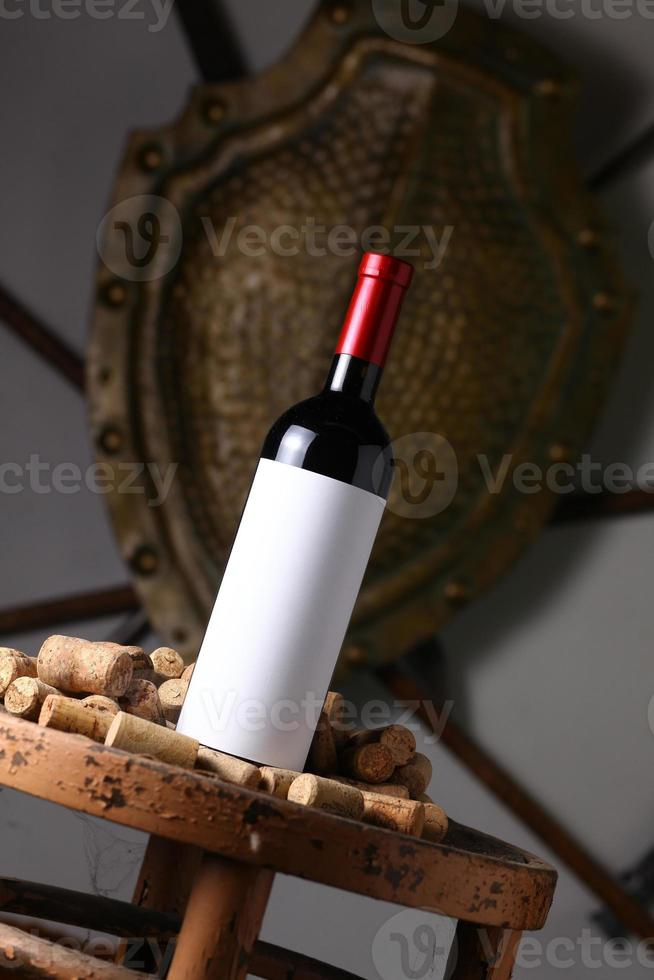 Red wine and corks photo