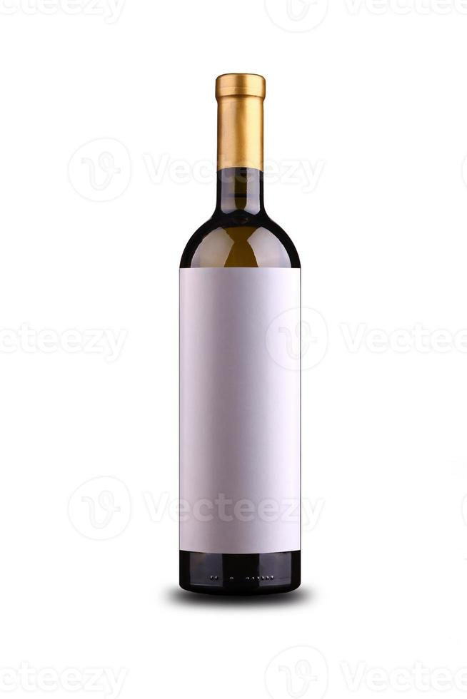 Blank wine label photo