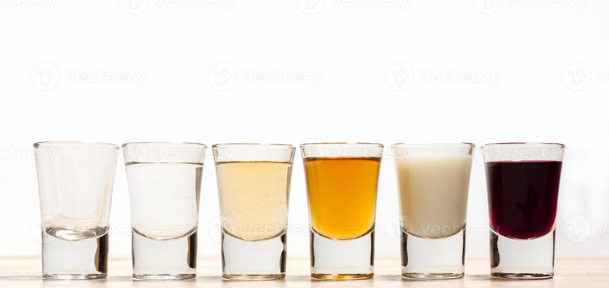 Shots of alcohol photo