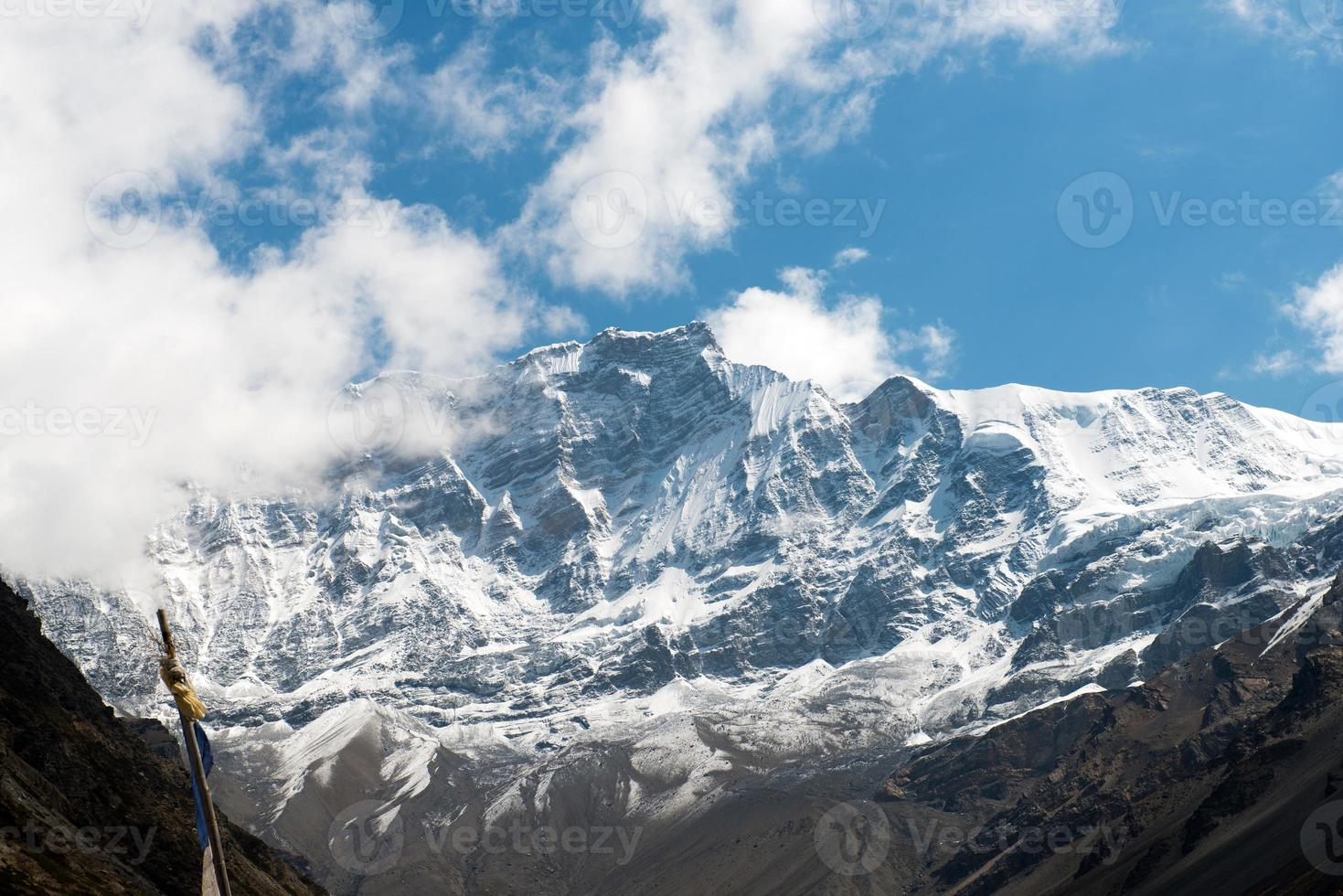 View on the Annapurna massif on a Annapurna Circuit photo