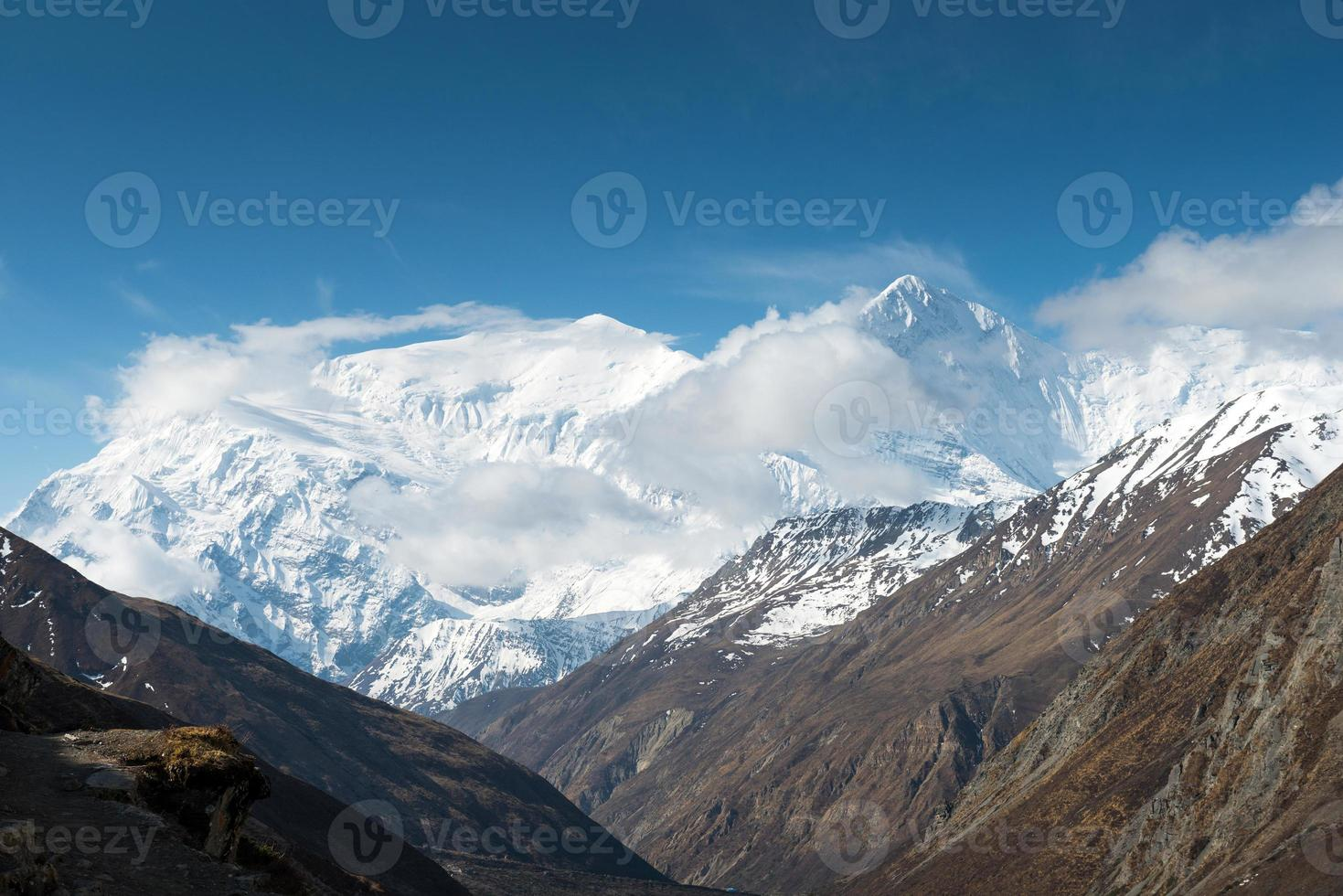View on the Annapurna massif on a Annapurna Circuit photo