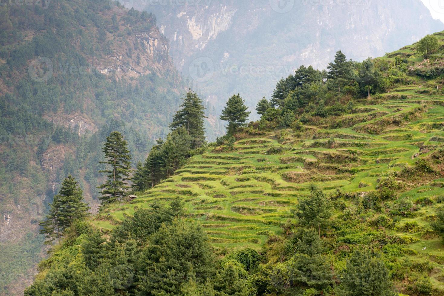Annapurna Circuit - most popular tourists trek in Himalaya photo