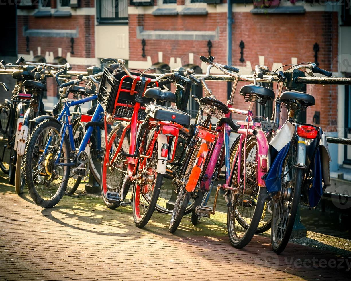 Bicycles in Amsterdam photo
