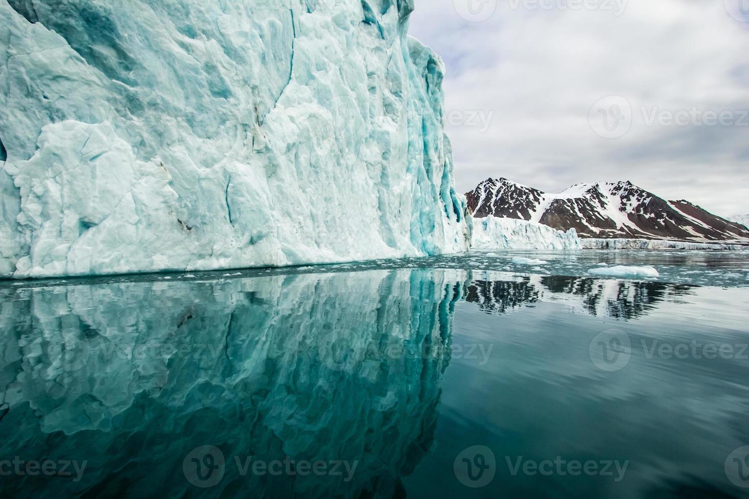 primavera ártica en el sur de spitsbergen. foto