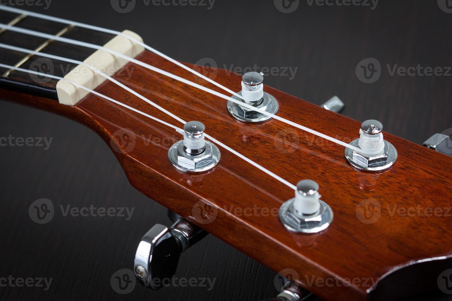 Part of ukulele hawaiian guitar photo