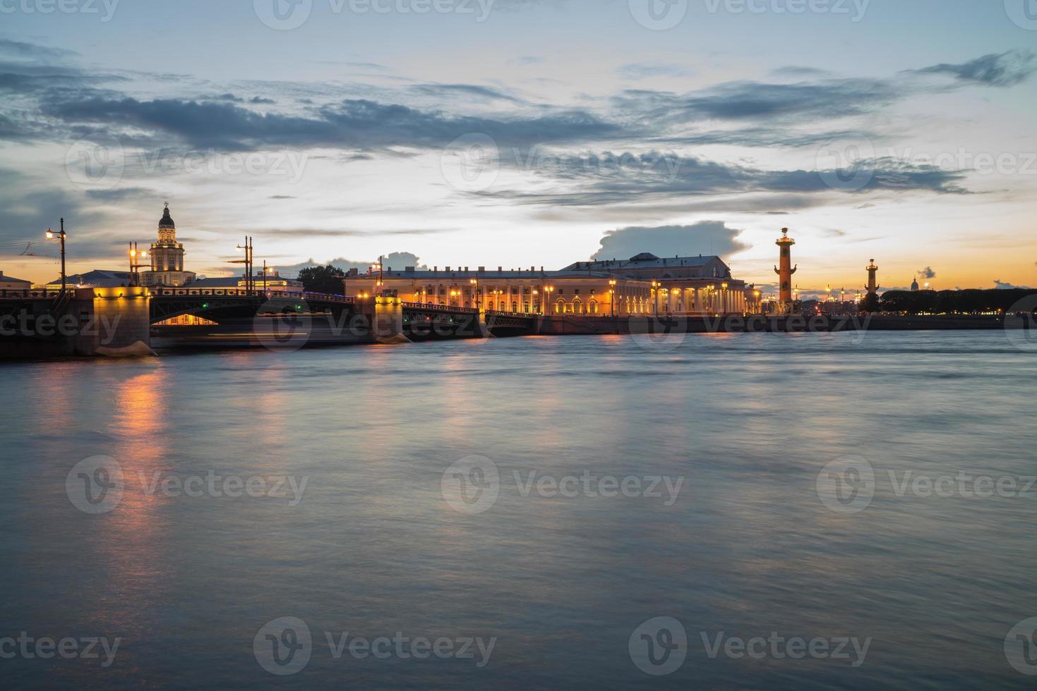 Rostral column in Saint-Petersburg photo