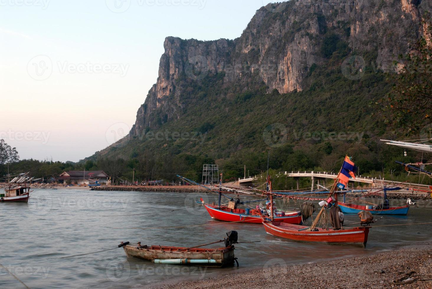Fishing boat  in Thailand. photo