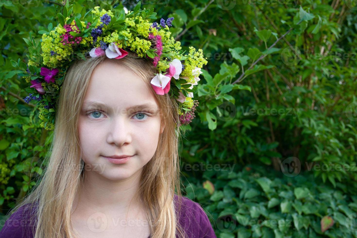 guirlanda de flores foto