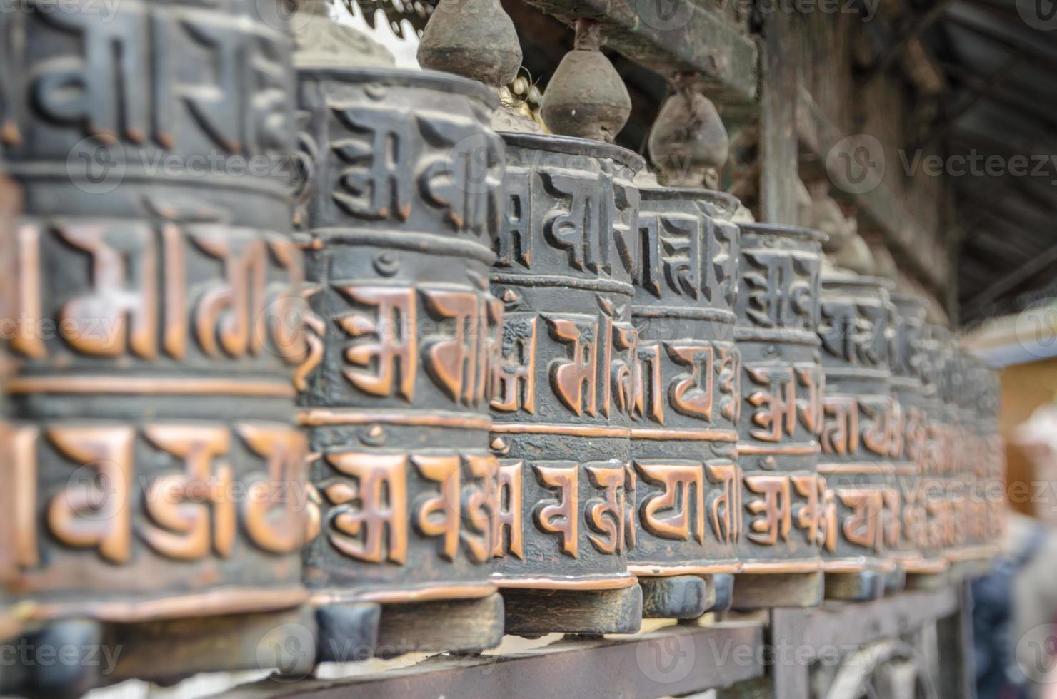 Prayer wheel in Nepal photo