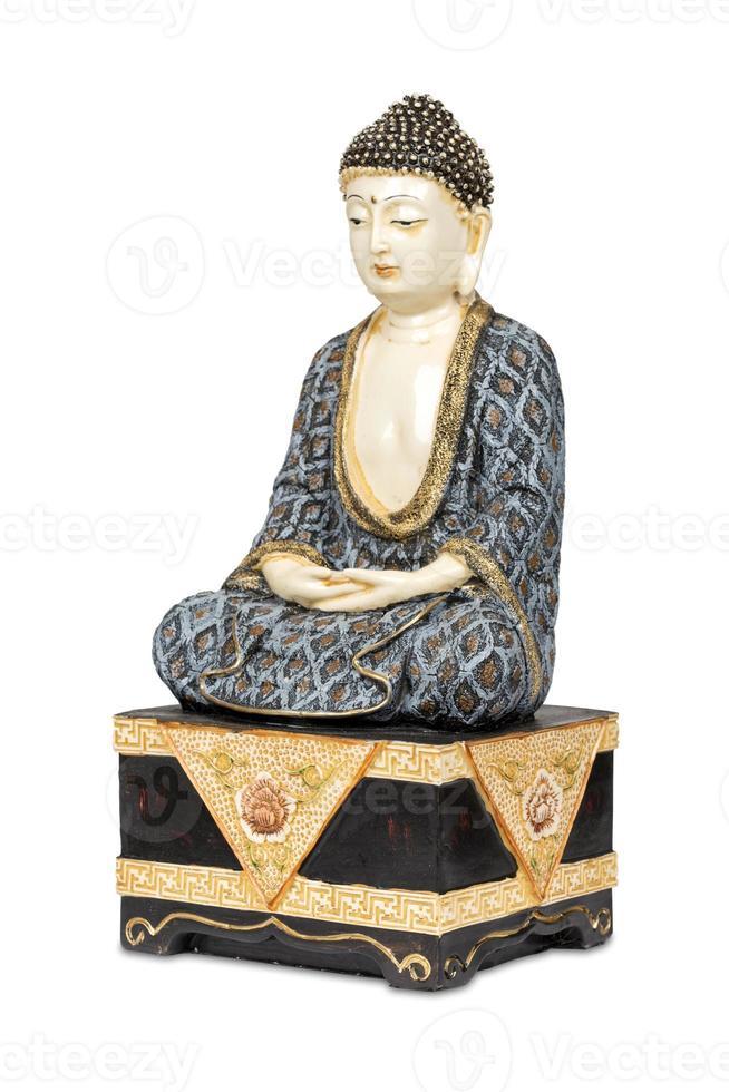 Antique colorful Buddha photo