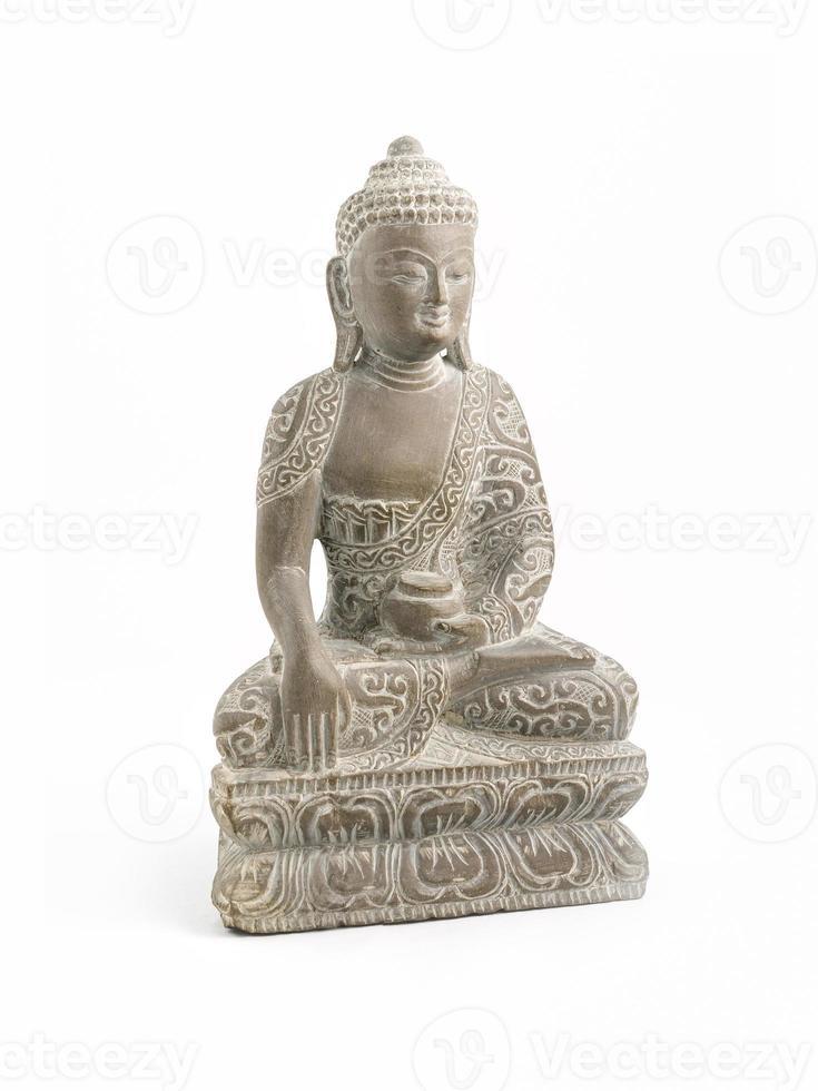 Buda esculpido em pedra-sabão foto