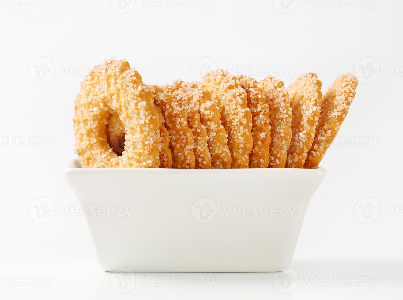 biscoitos em forma de anel foto