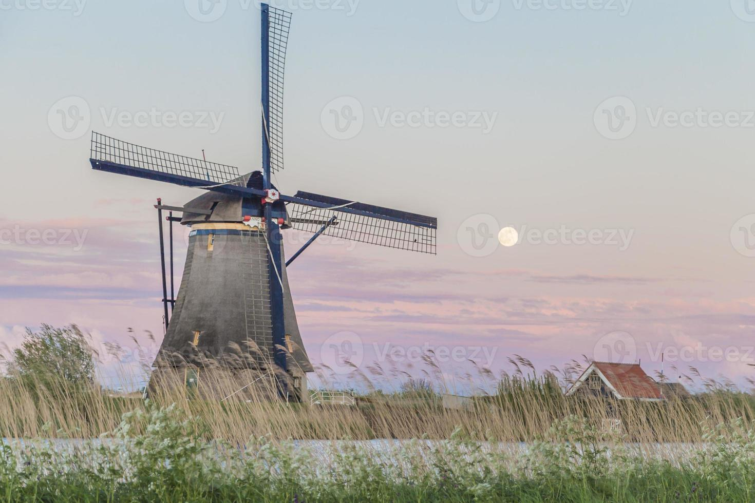 Old Windmills in Holland, Netherlands photo