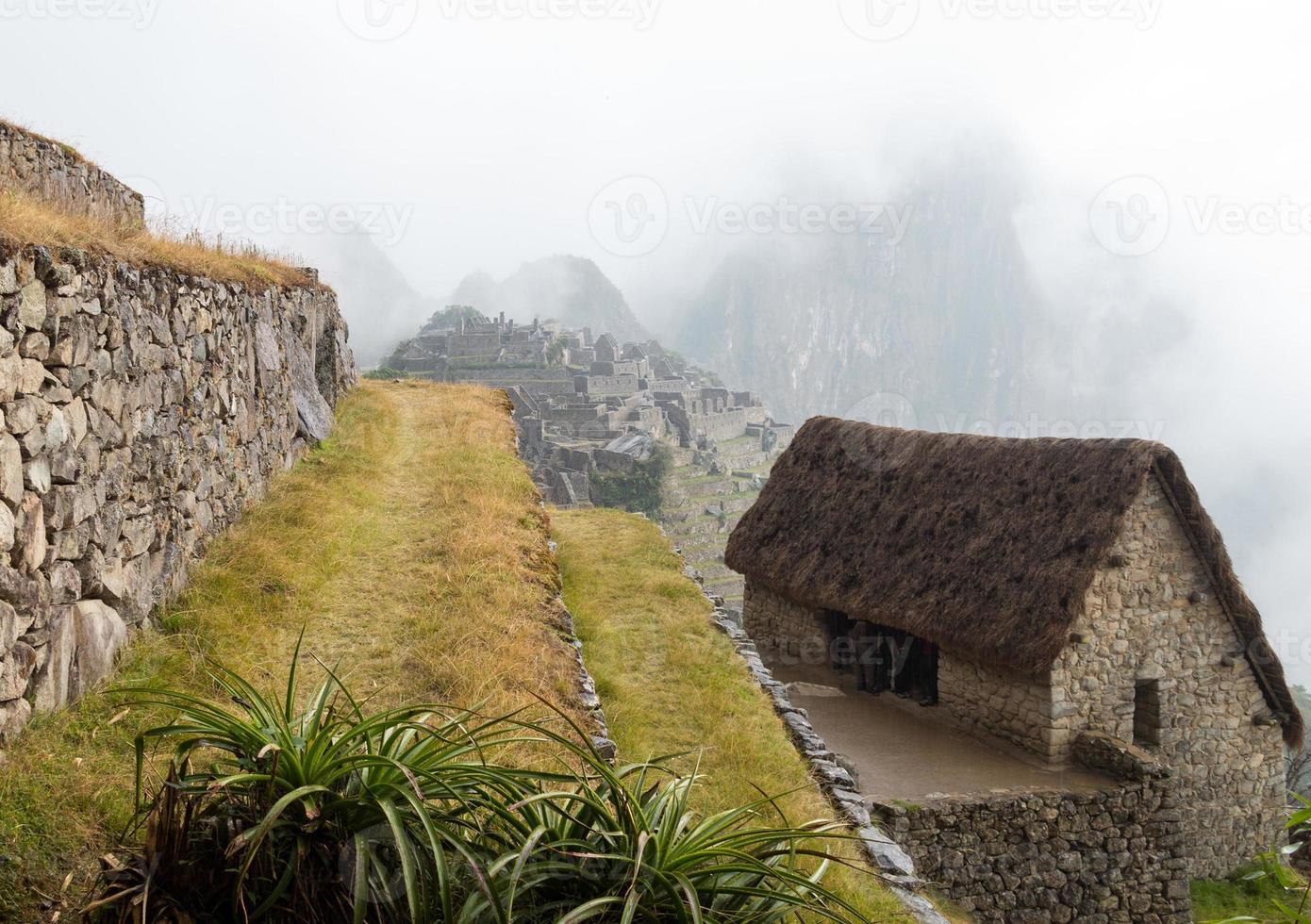 Machu Picchu na região de Cusco do Peru foto