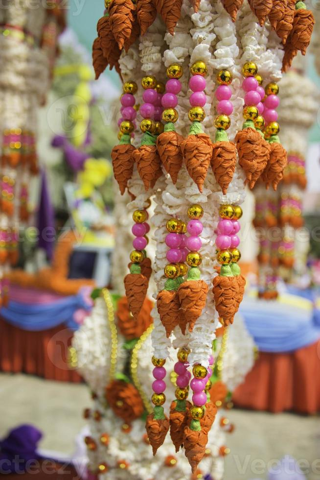 coronas de arroz arte y danza de tailandia. foto