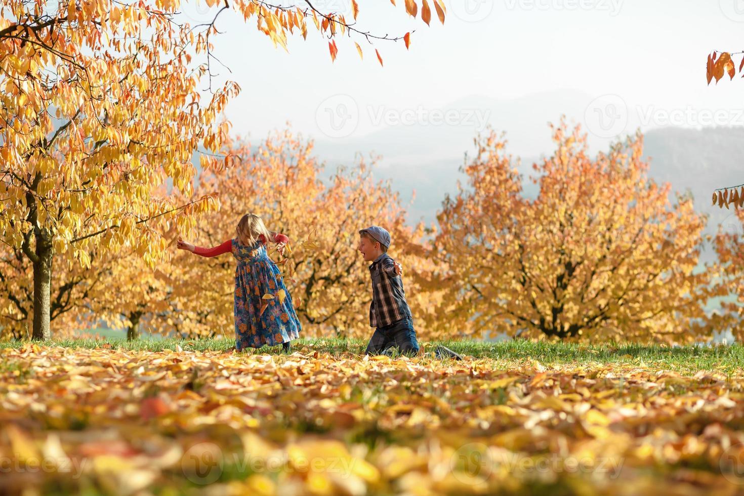 diversión de otoño foto