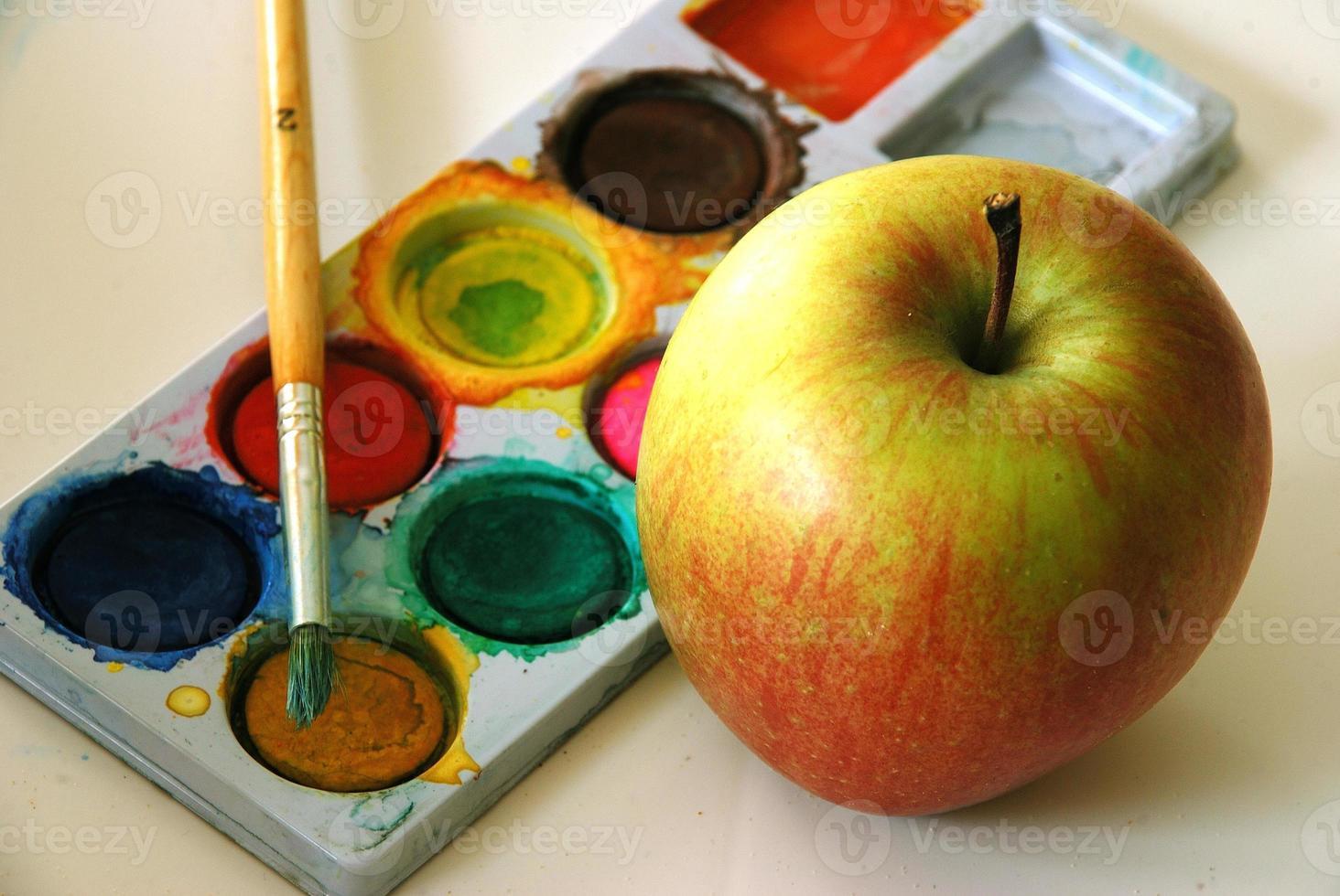 manzana y colores foto