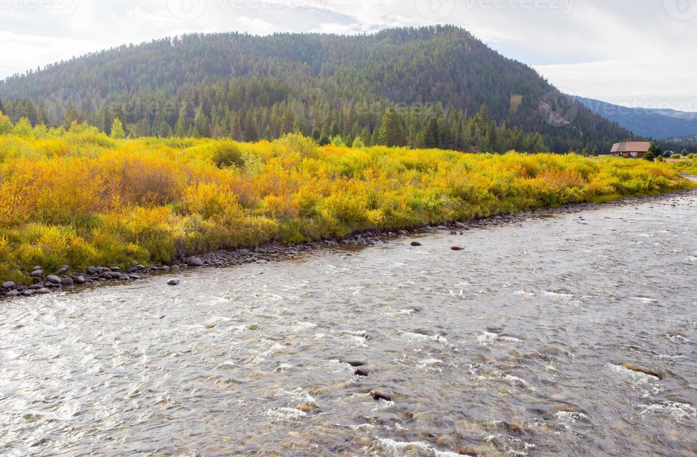 caer sobre el río gallatin. foto