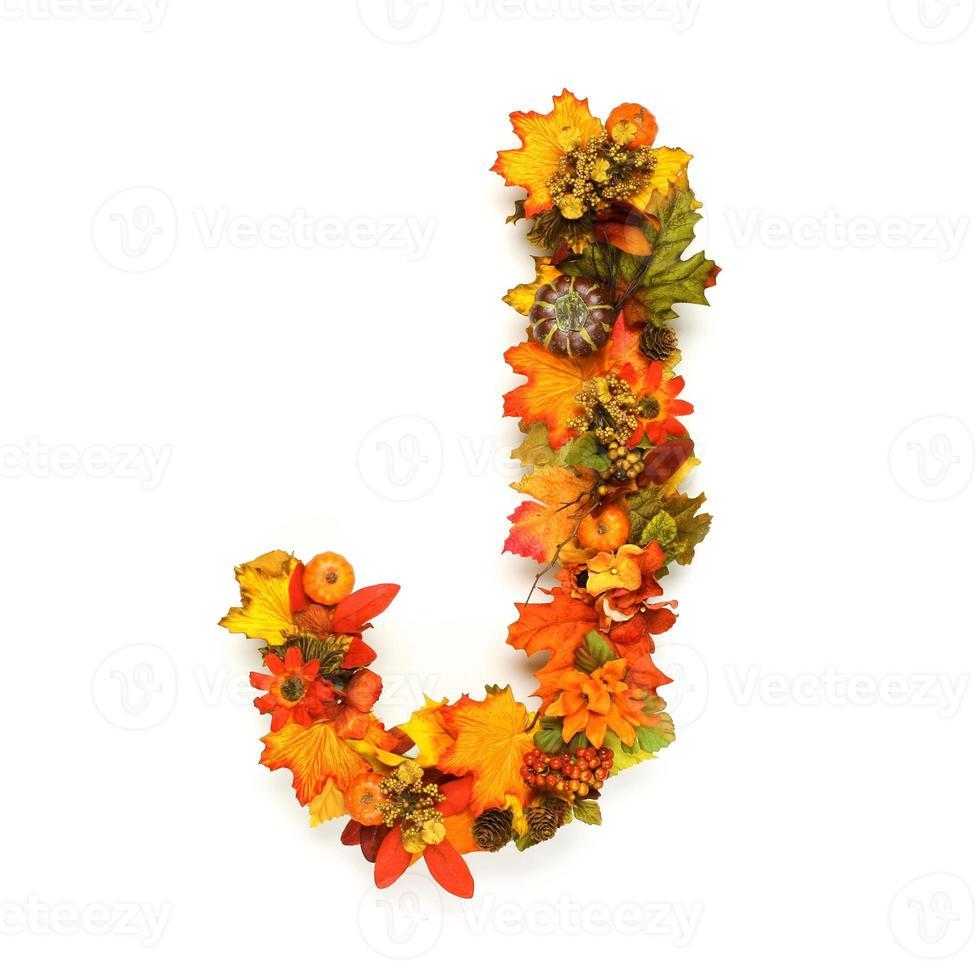 alfabeto de otoño foto