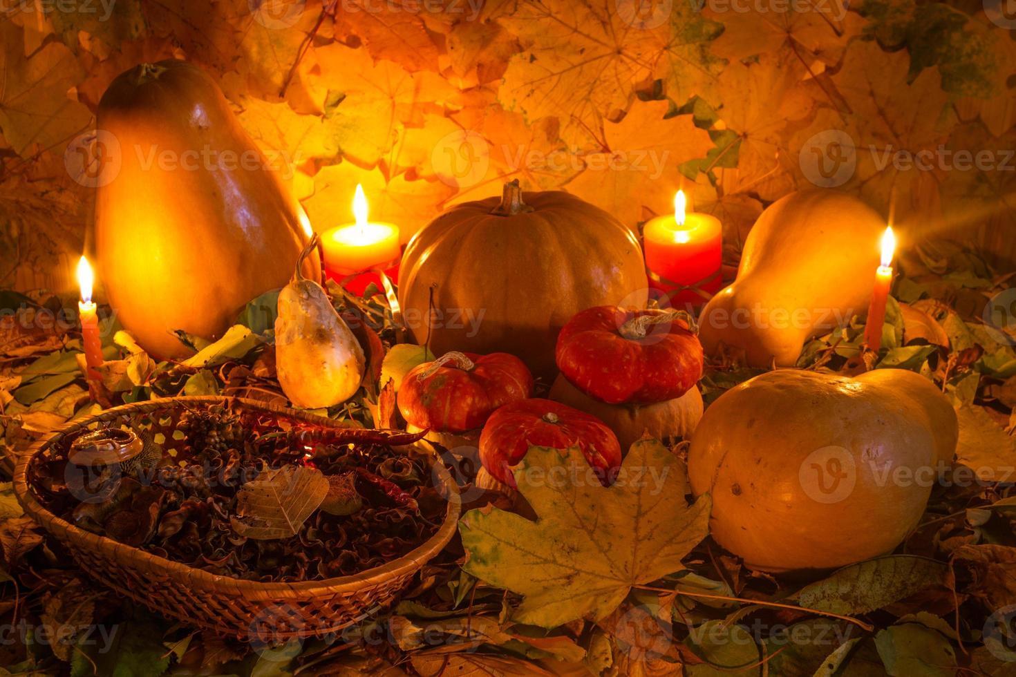decoración de otoño foto