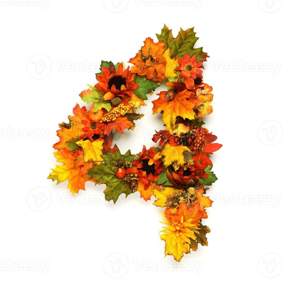números de otoño foto