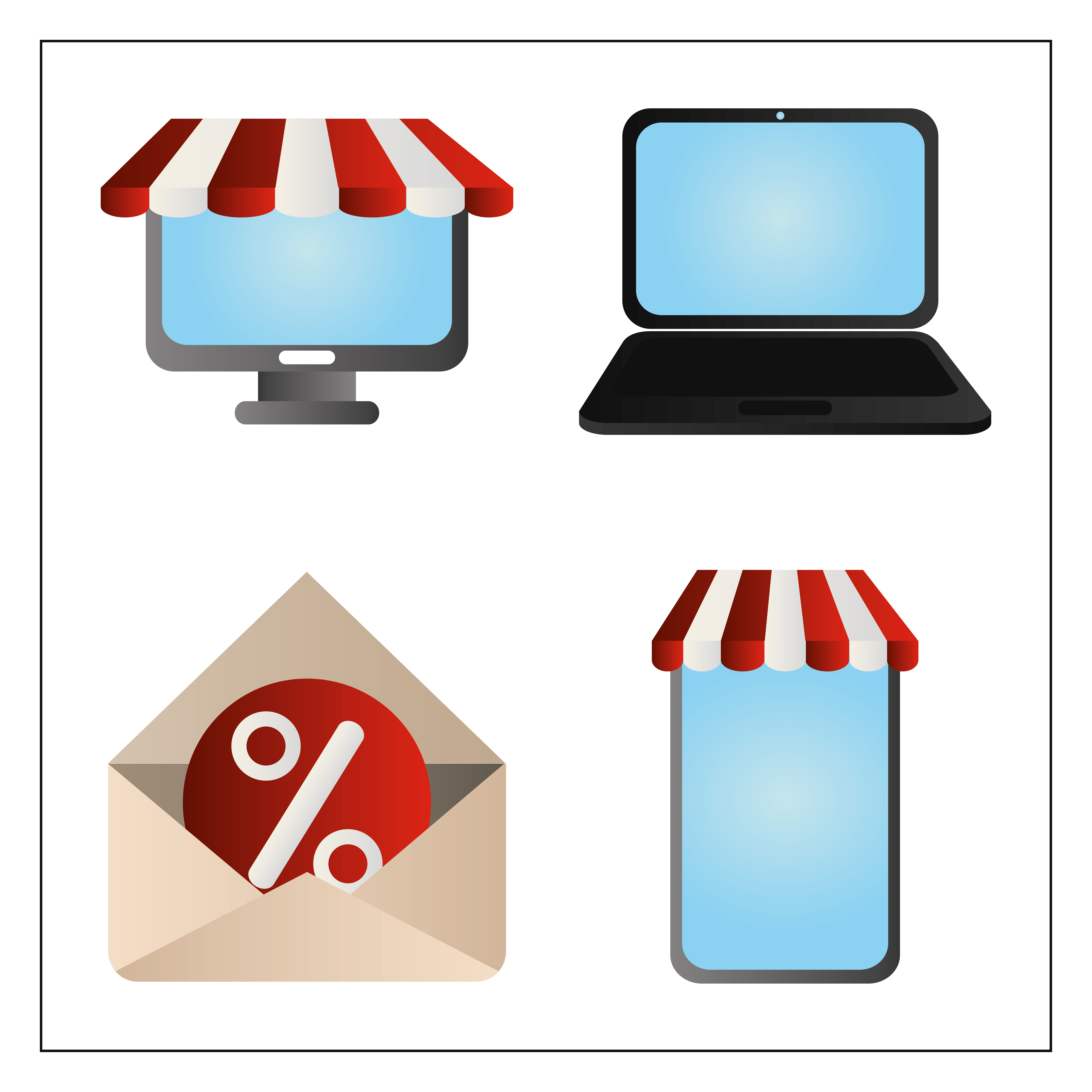 Cyber Monday Computer Laptop Smartphone And Email Download Free Vectors Clipart Graphics Vector Art