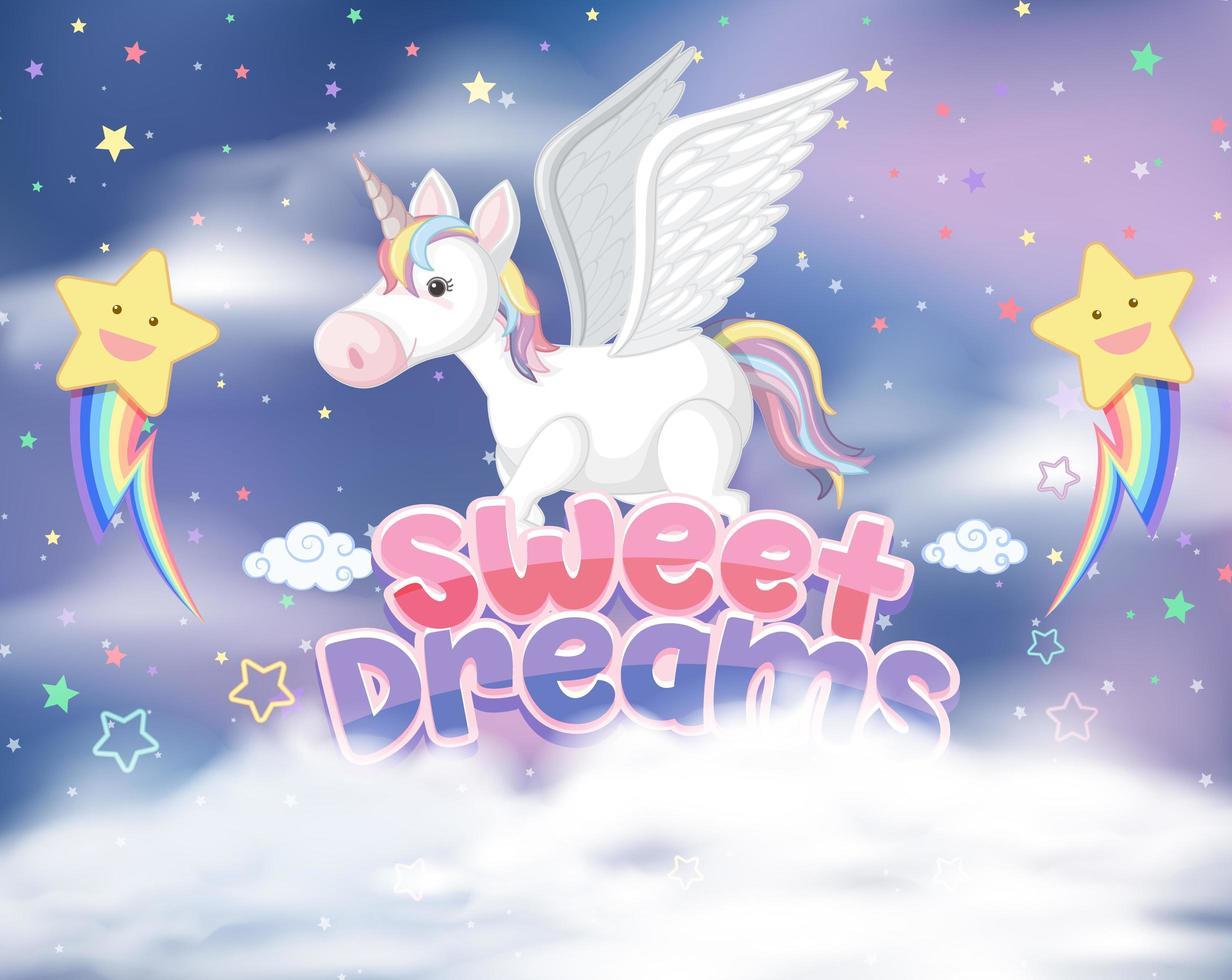 Magic Fairy Tale Pastel Sky Background vector