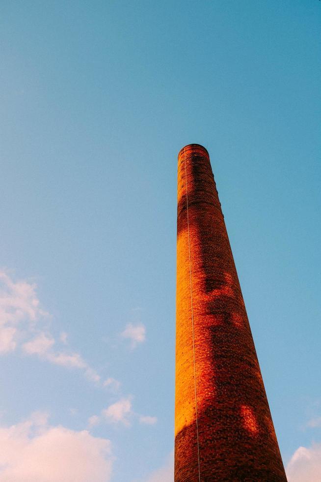 Brown concrete over under blue sky photo