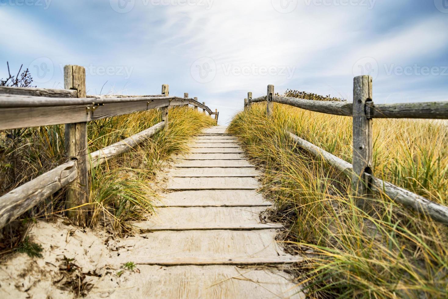 camino a la playa foto
