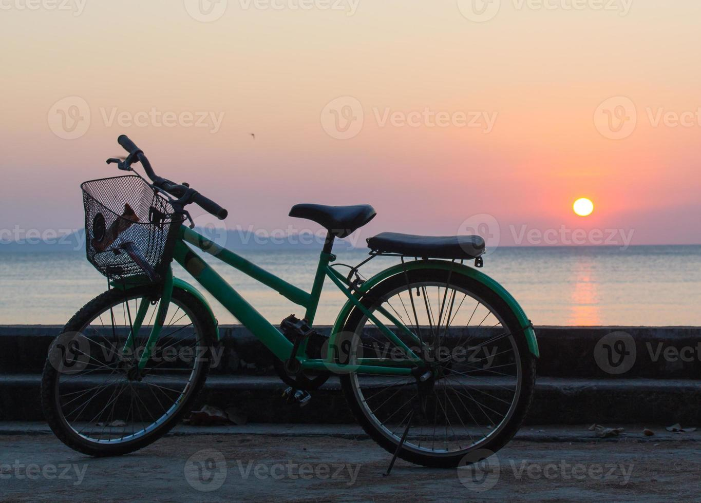 bicycle on the beach photo