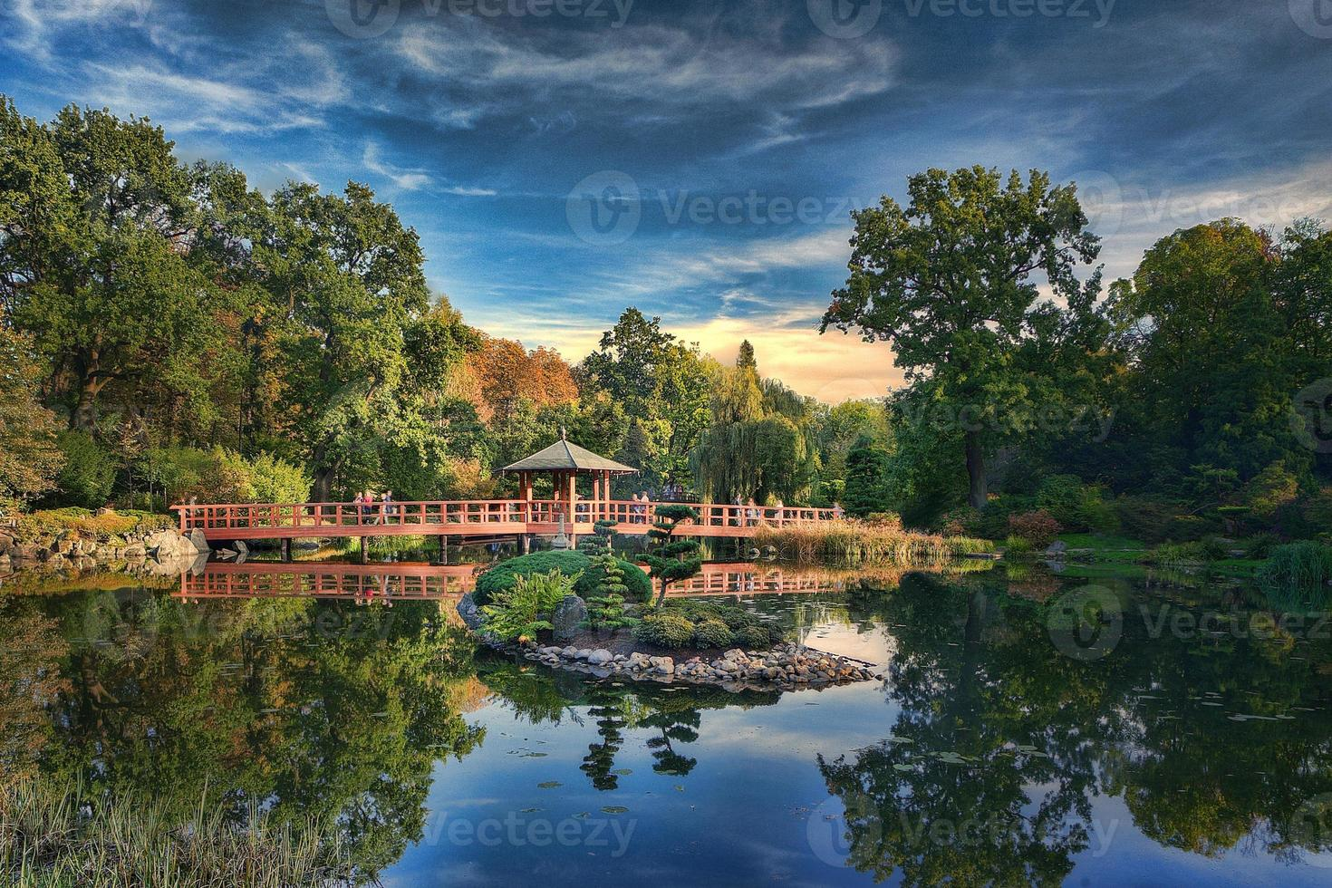 Japanese Garden in Wroclaw. photo