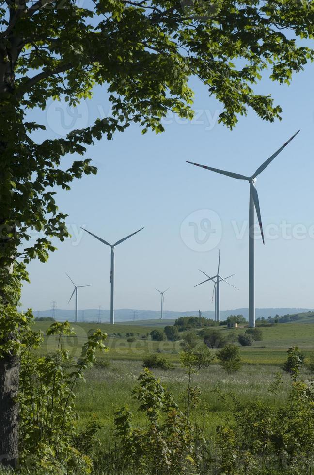 turbina eólica generando energía foto