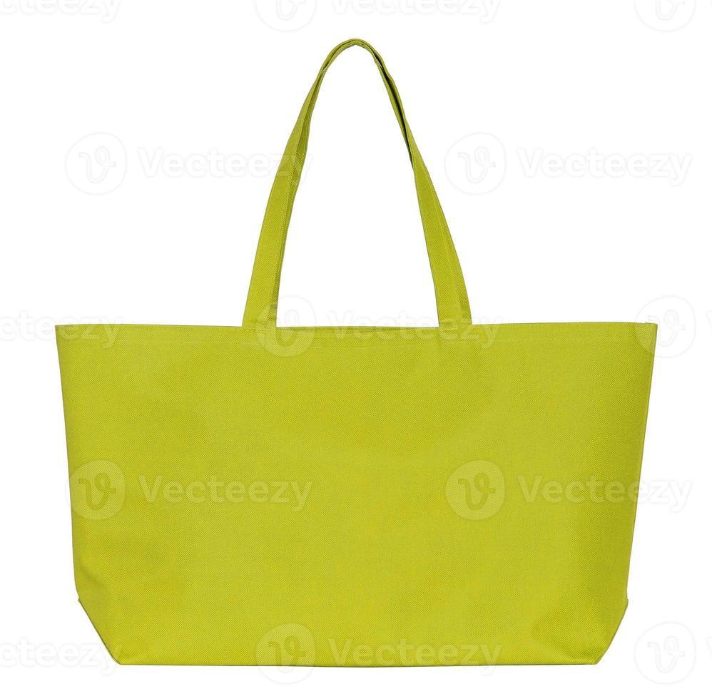 bolso de compras de algodón amarillo foto