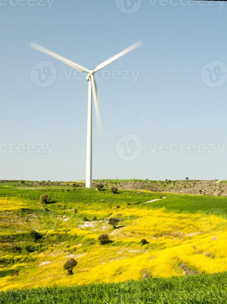Windmill turbine power generation photo