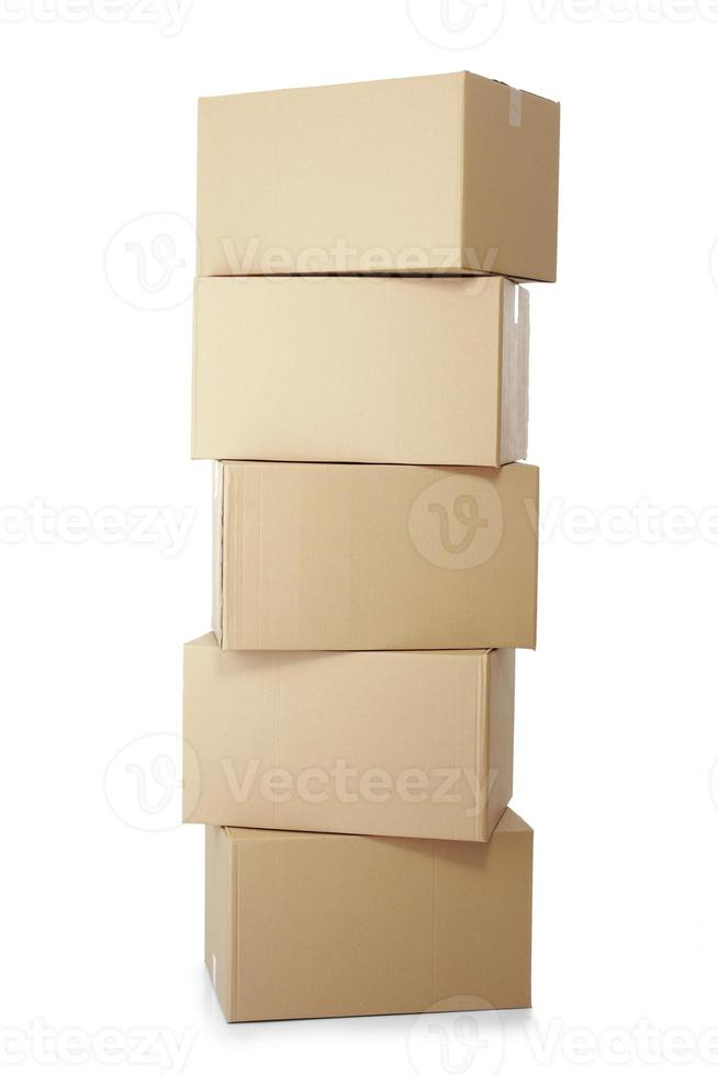 piles of cardboard boxes photo