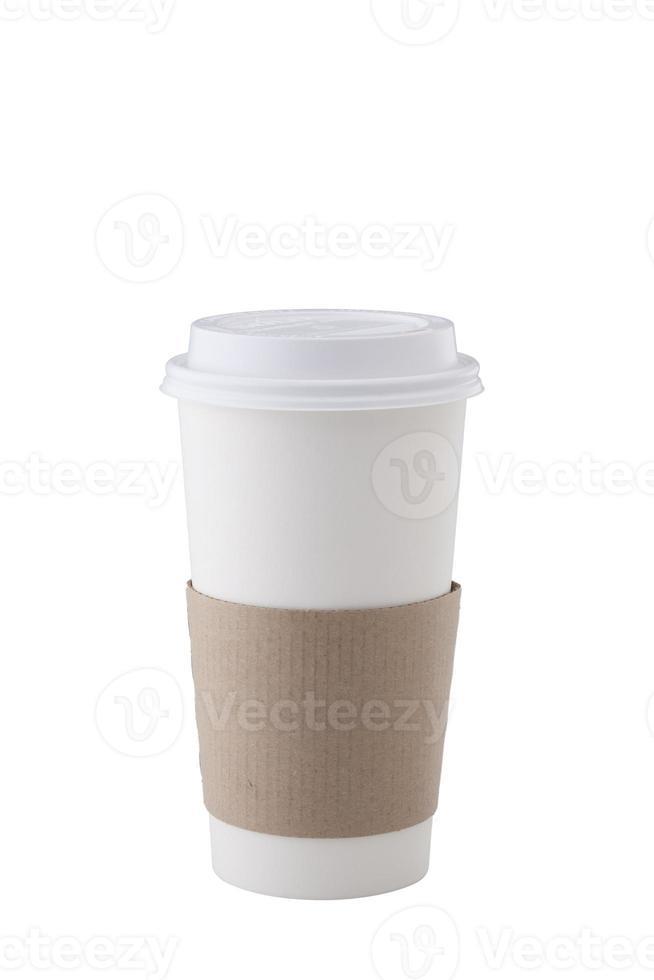 taza de café sobre fondo blanco foto