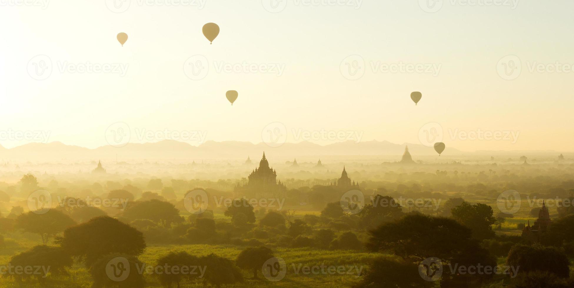 Sunrise at Bagan, Myanmar photo