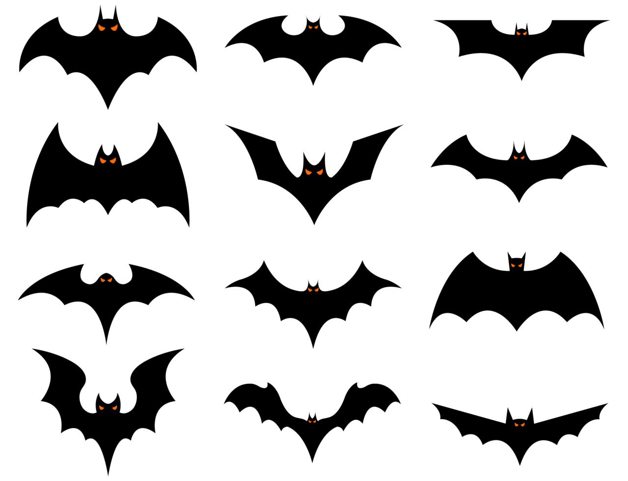 conjunto de murciélagos de halloween vector