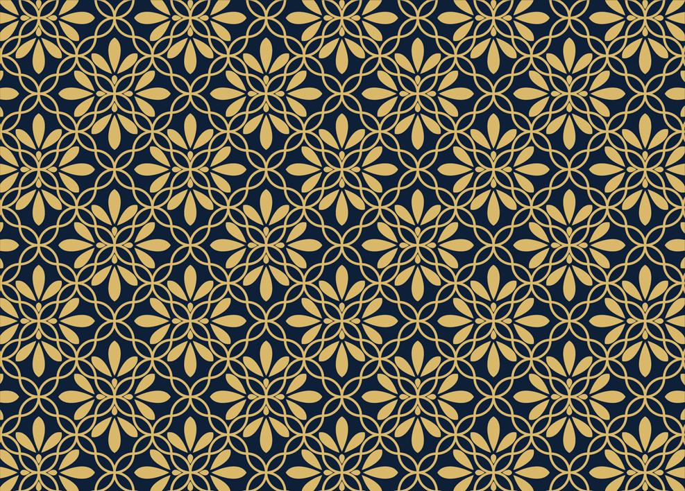 flor patrón geométrico vector