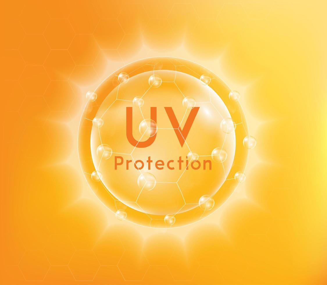 banner de protección uv vector