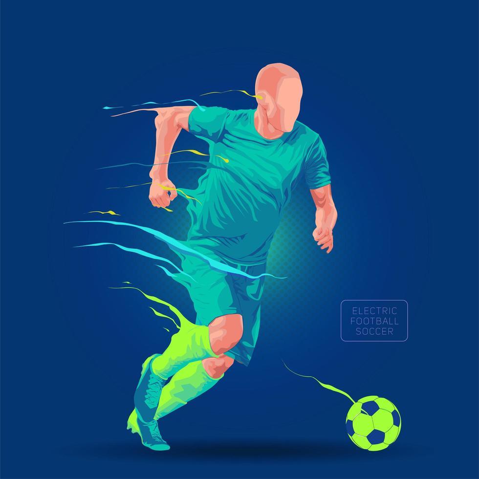 futbolista corriendo diseño vector