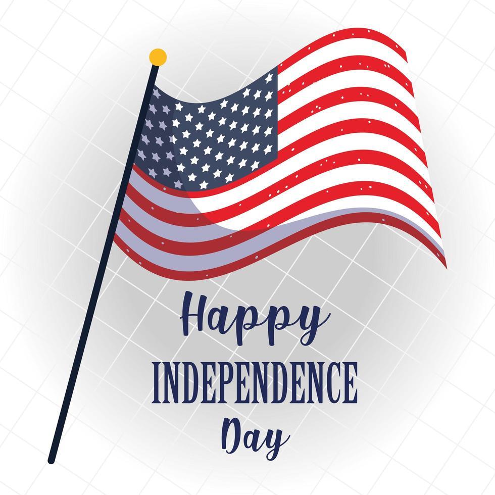 diseño de la bandera del día de la independencia de estados unidos vector