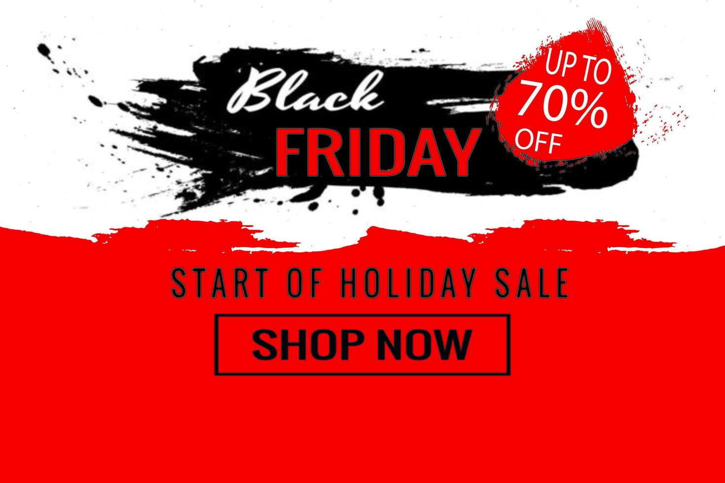 Start of the Black Friday sale poster vector