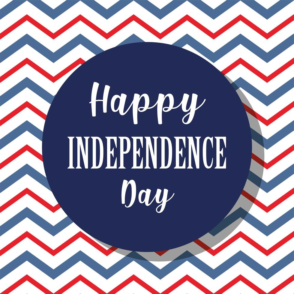 Independence Day theme with zig zag background vector