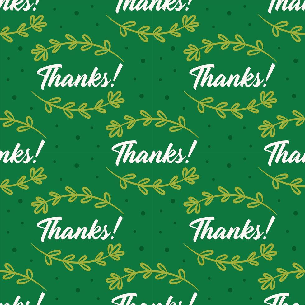 gracias con hierbas de patrones sin fisuras de acción de gracias vector