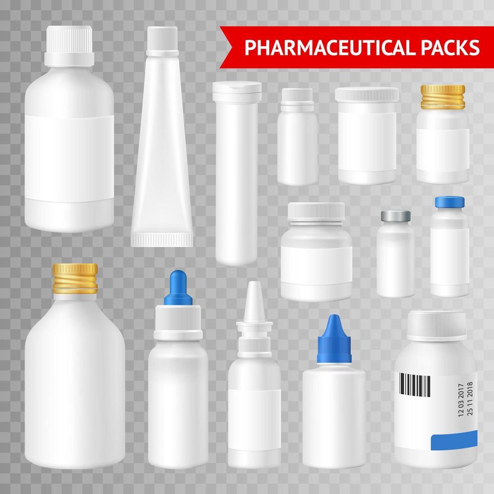 conjunto de paquete farmacéutico vector