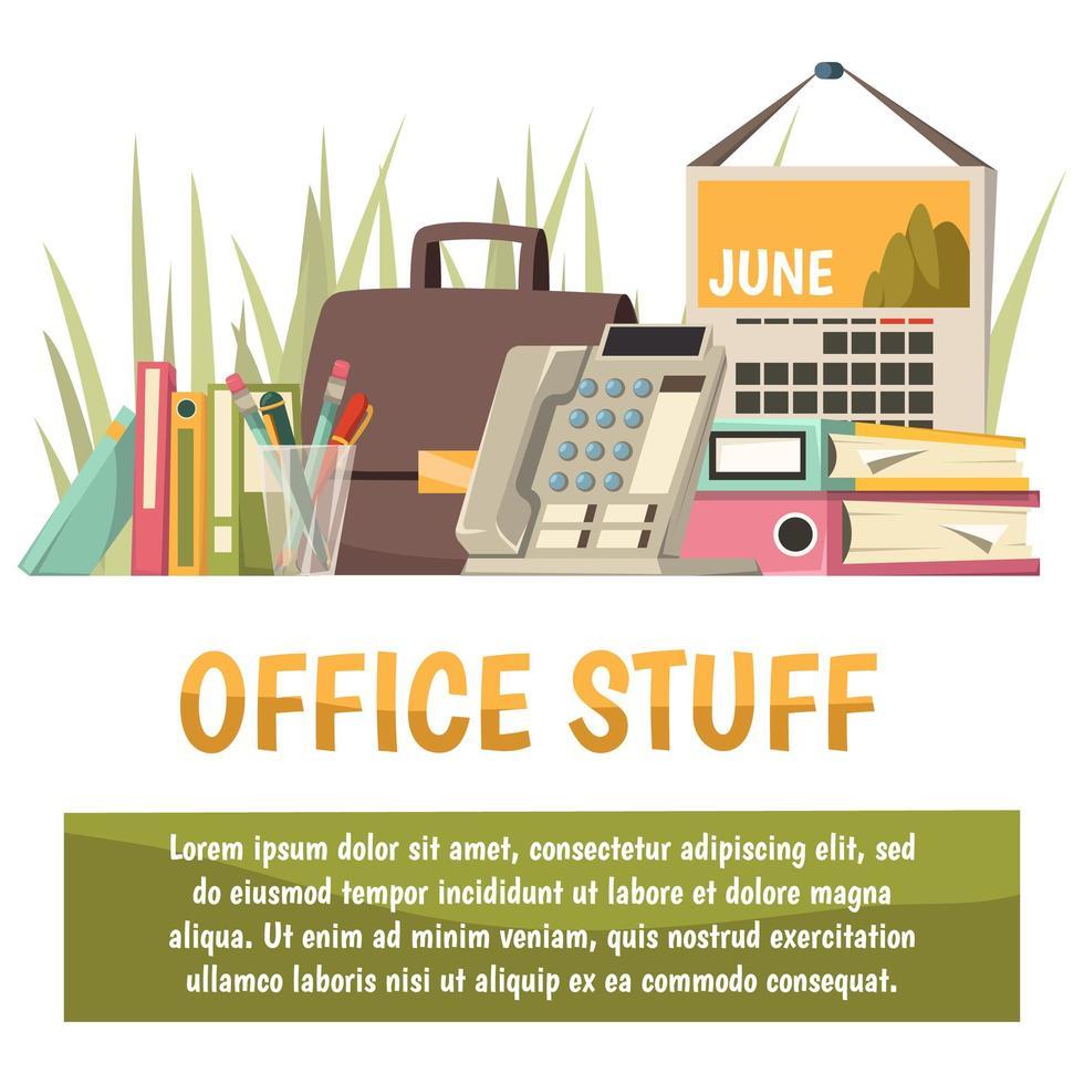 plantilla de banner de oficina y trabajo vector
